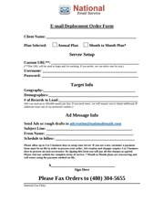 national email service order form