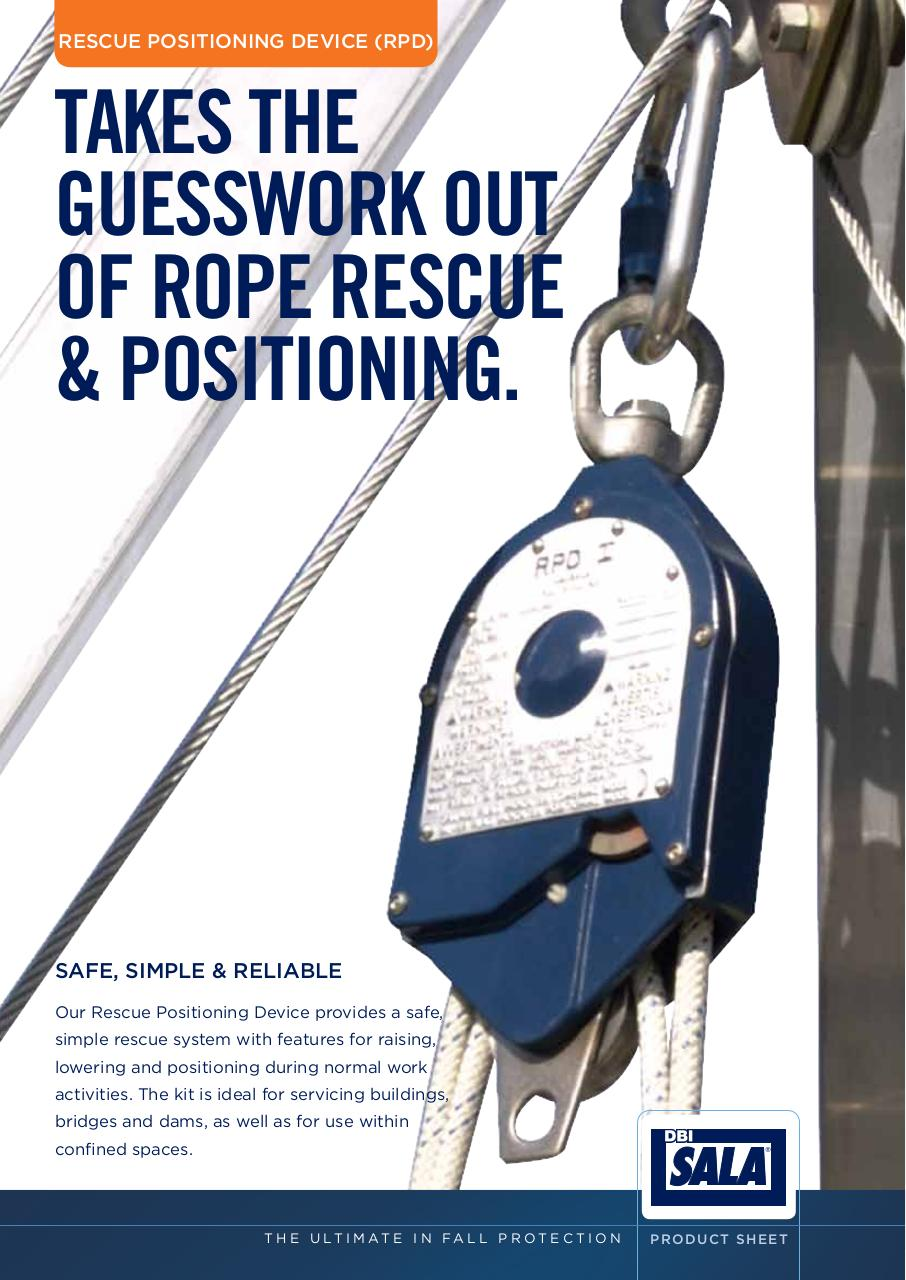 Rescue Positioning Device (RPD) Product Information Sheet.pdf - page 1/2