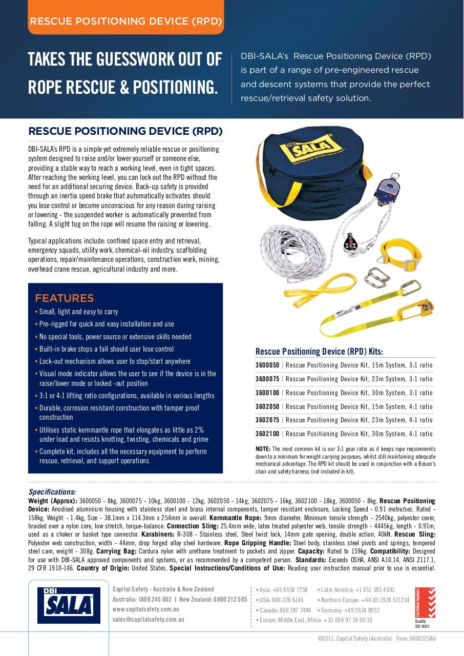 Rescue Positioning Device (RPD) Product Information Sheet.pdf - page 2/2
