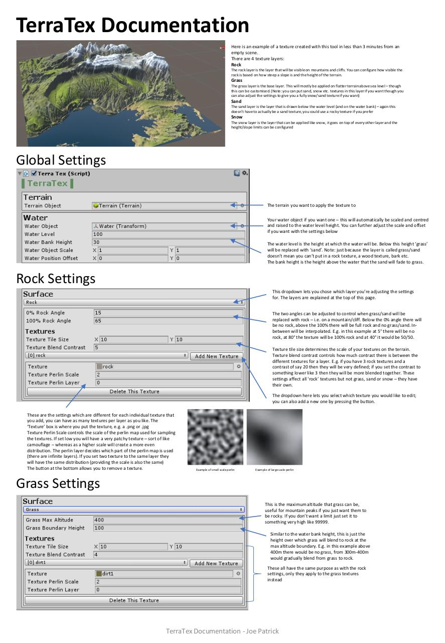Document preview TerraTex Documentation.pdf - page 1/2