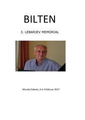 3 lebarjev memorial bilten