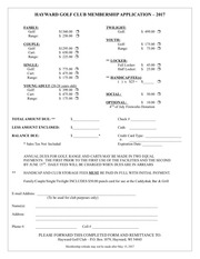 hayward golf club membership application 2017