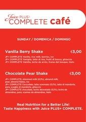 cafe menu rosso