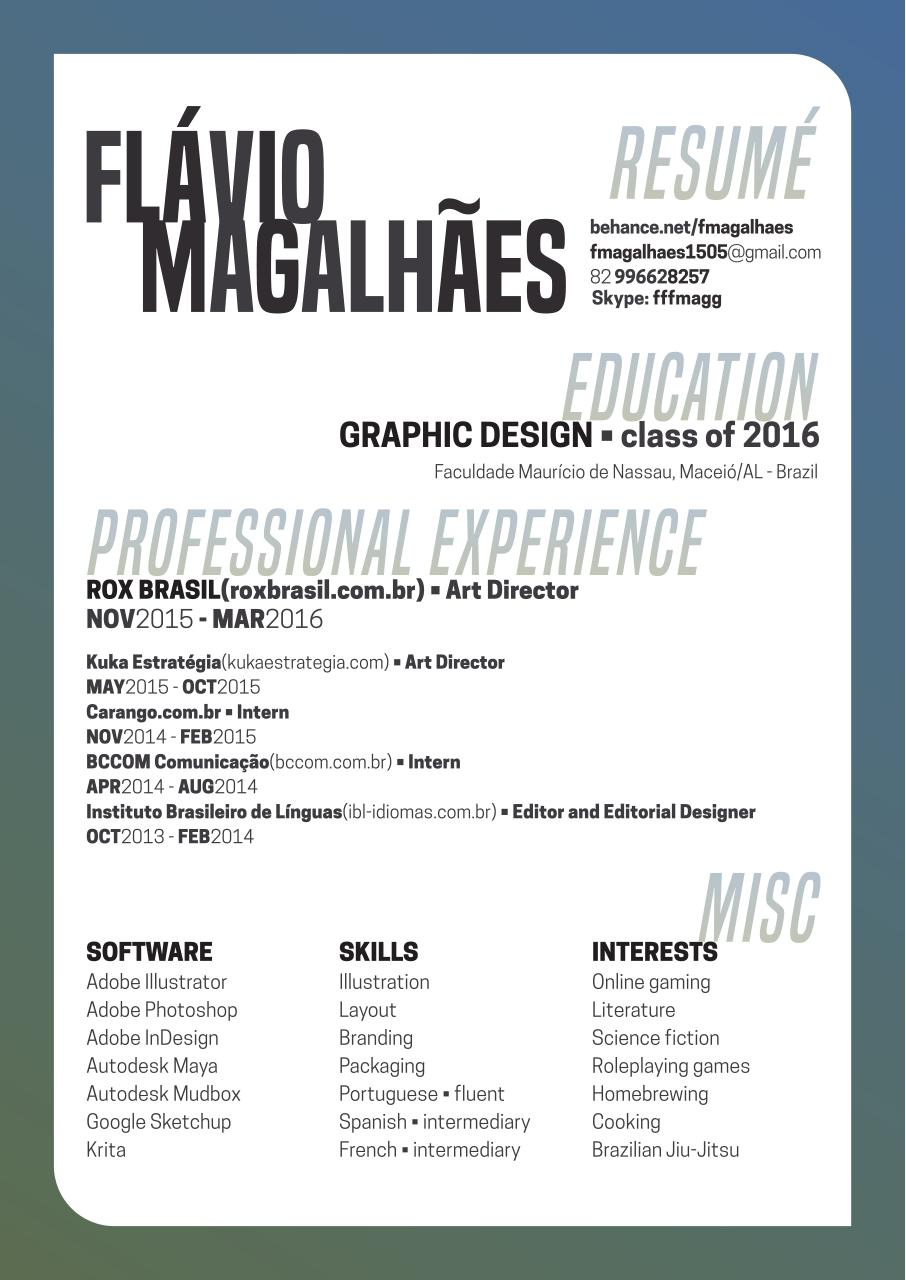 Document preview RESUME - FLAVIO MAGALHAES .pdf - page 1/1