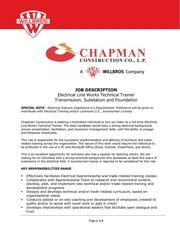 technical trainer chapman construction