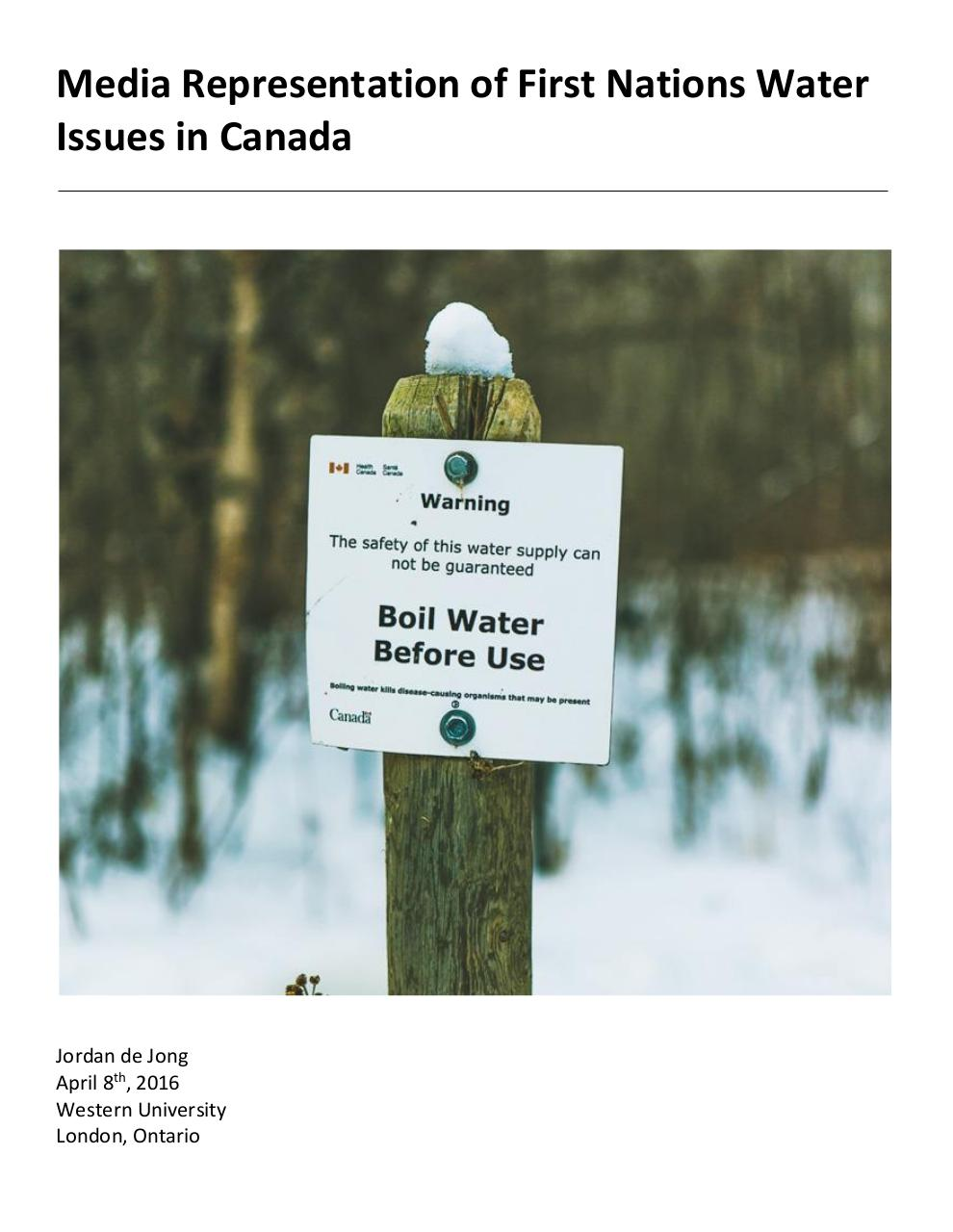 Media Representation of First Nations Water Issues in Canada.pdf - page 1/19