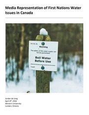 media representation of first nations water issues in canada