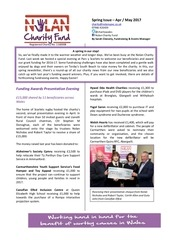 nolan charity fund newsletter spring 2017