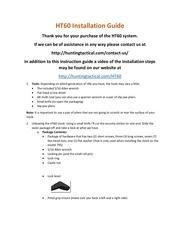 ht60 installation guide