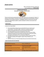 jason carter resume