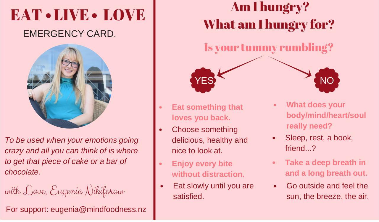 Eat, Live, Love. (emergency card_business card.pdf) - PDF ...