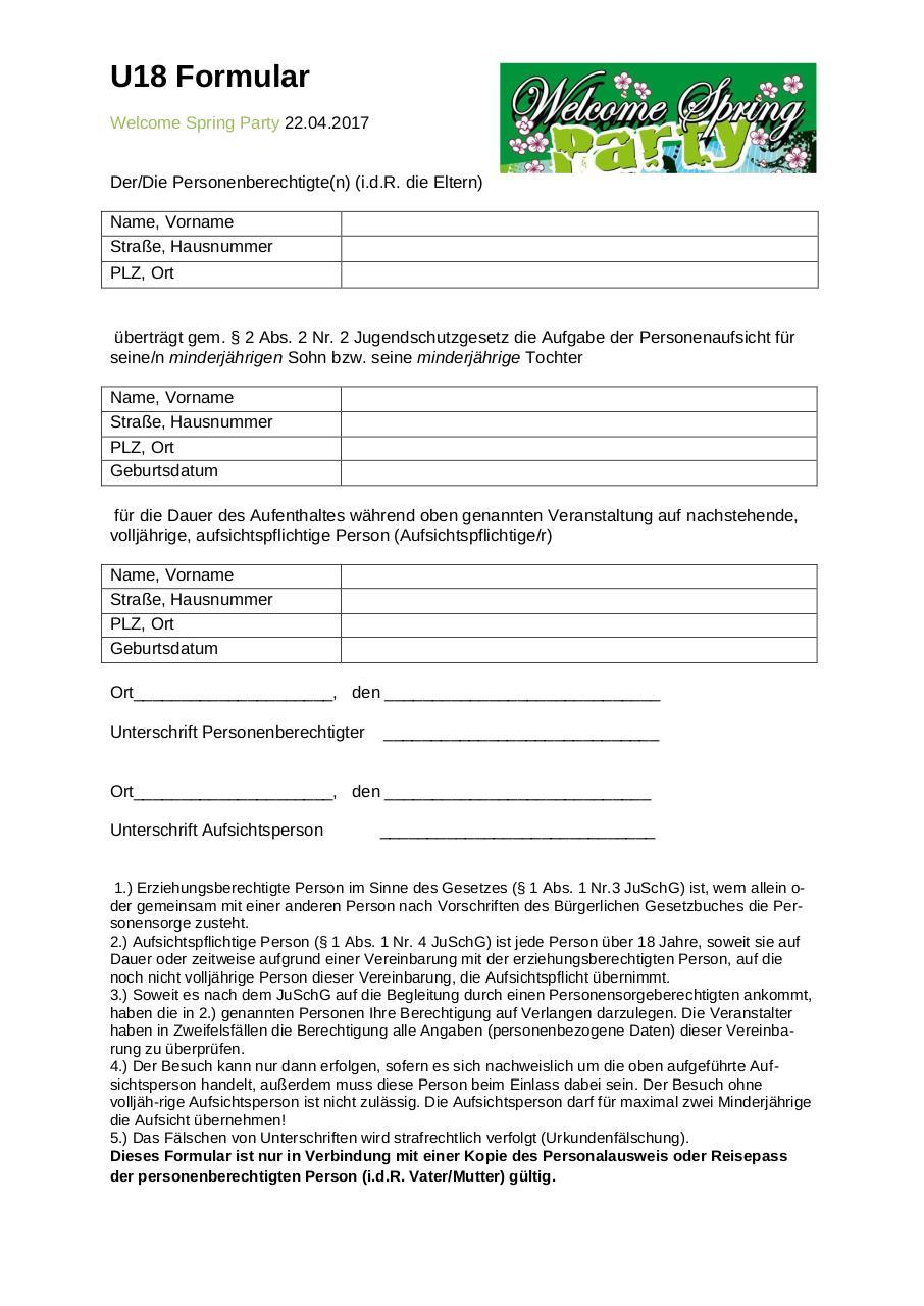 Kinki u18 formular pdf download
