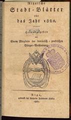 rigasche stadtblatter 1820 ocr ta pe