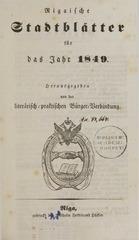 rigasche stadtblatter 1849 ocr ta