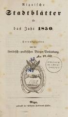 rigasche stadtblatter 1850 ocr ta pe