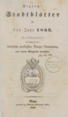 rigasche stadtblatter 1852 ocr ta