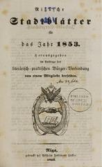 rigasche stadtblatter 1853 ocr ta