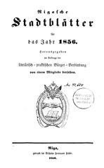 rigasche stadtblatter 1856 ocr ta
