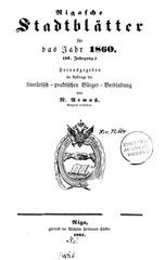 rigasche stadtblatter 1860 ocr ta