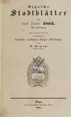 rigasche stadtblatter 1862 ocr ta