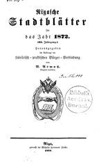 rigasche stadtblatter 1872 ocr ta