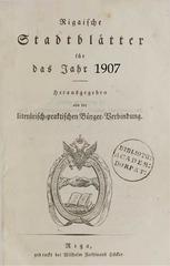 rigasche stadtblatter 1907 ocr pe