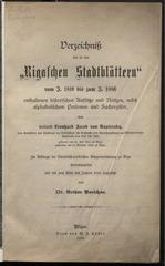 rigasche stadtblatter historischen index 1810 1886 ocr pe
