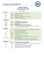 2016 2017 academic calendar aug 29 2016