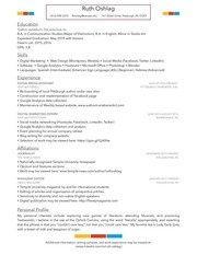 resume 3 ruth oshlag temple university