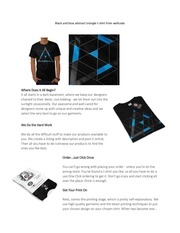 black and blue abstract triangle t