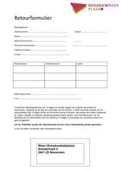 PDF Document retourformulier docx