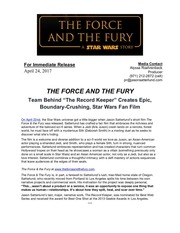 the force and the fury press release