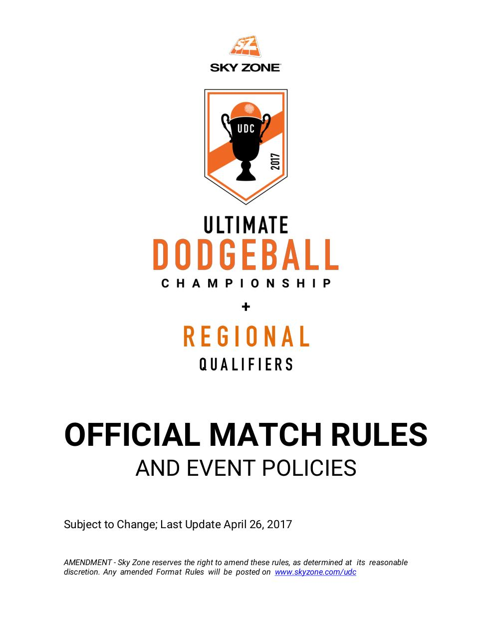 UDC 2017 Match Rules & Event Policies.pdf - page 1/29