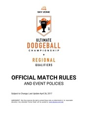udc 2017 match rules event policies