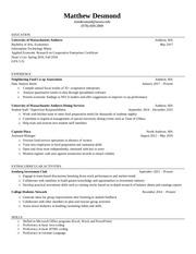 matthew desmond resume