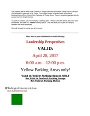 parking for leadership perspectives 4 28 17