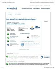 audia3 autocheck