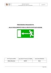 procedura d evacuazione
