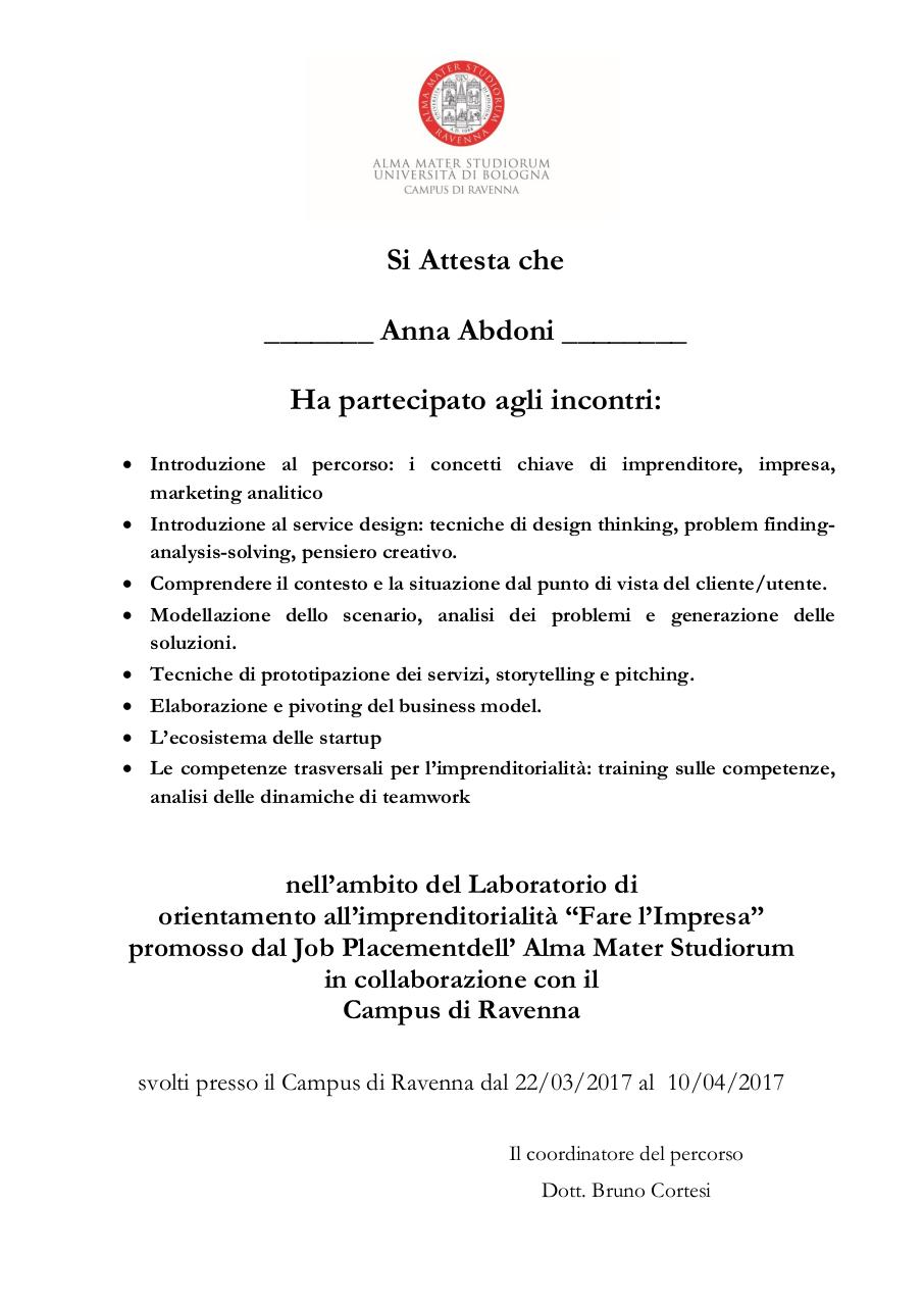 Document preview Attestato FareImpresa.pdf - page 1/1