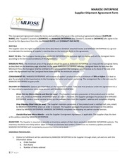 marjose enterprise supplier shipment agreement copy