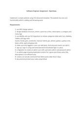 software engineer assignment