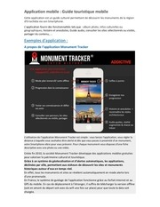 application mobile guide touristique