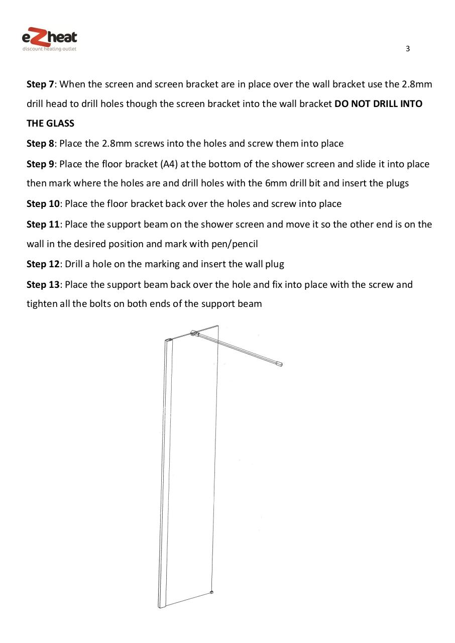 Shower screen install manual - Ezheat.pdf - page 3/4