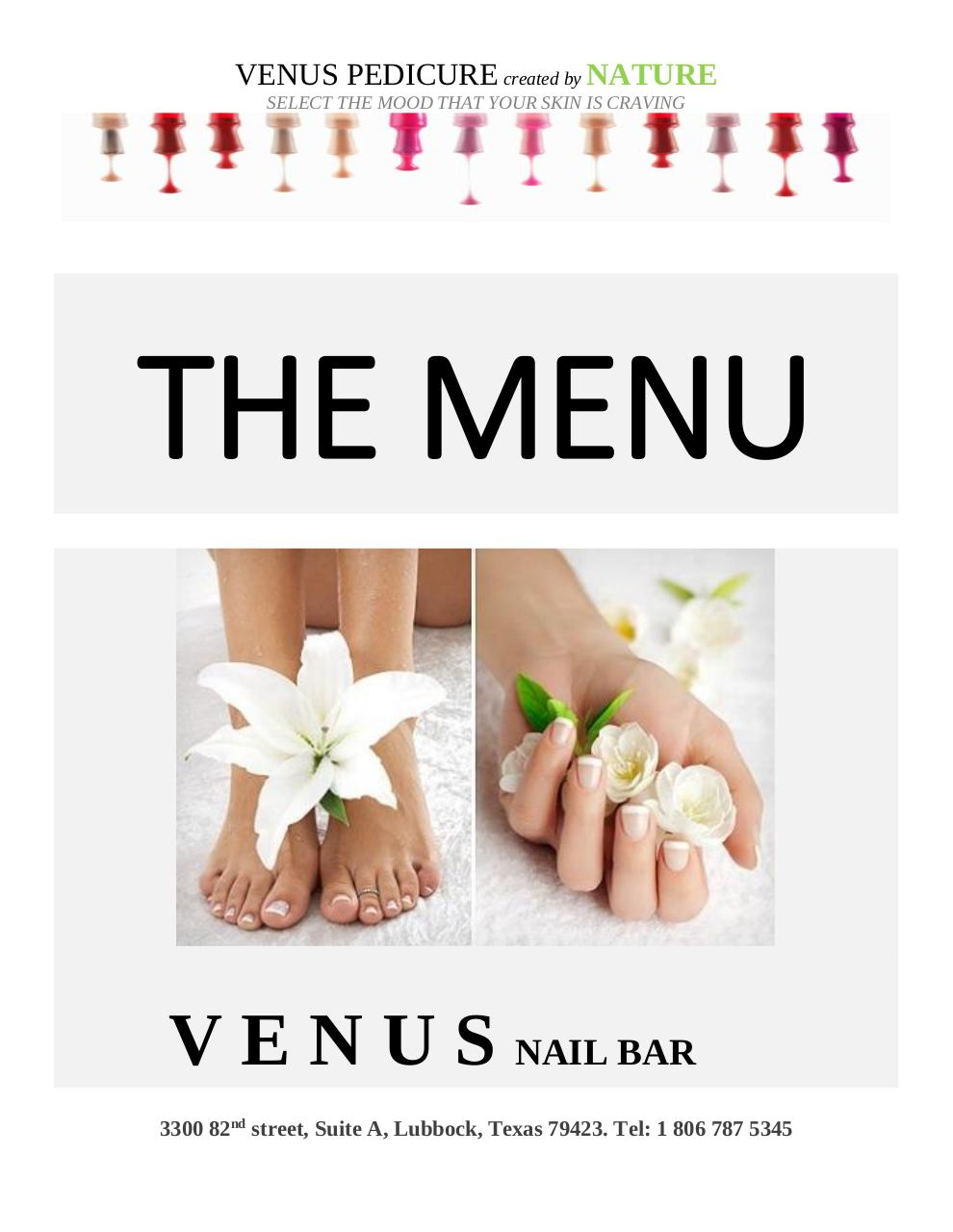 THE VENUS NAIL BAR MENU.pdf - page 1/6
