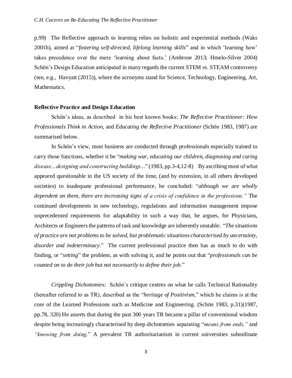 Re-Educating the Reflective Practicioner.pdf - page 3/42