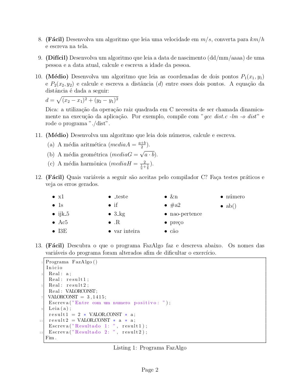 Document preview Lista 1.pdf - page 2/3