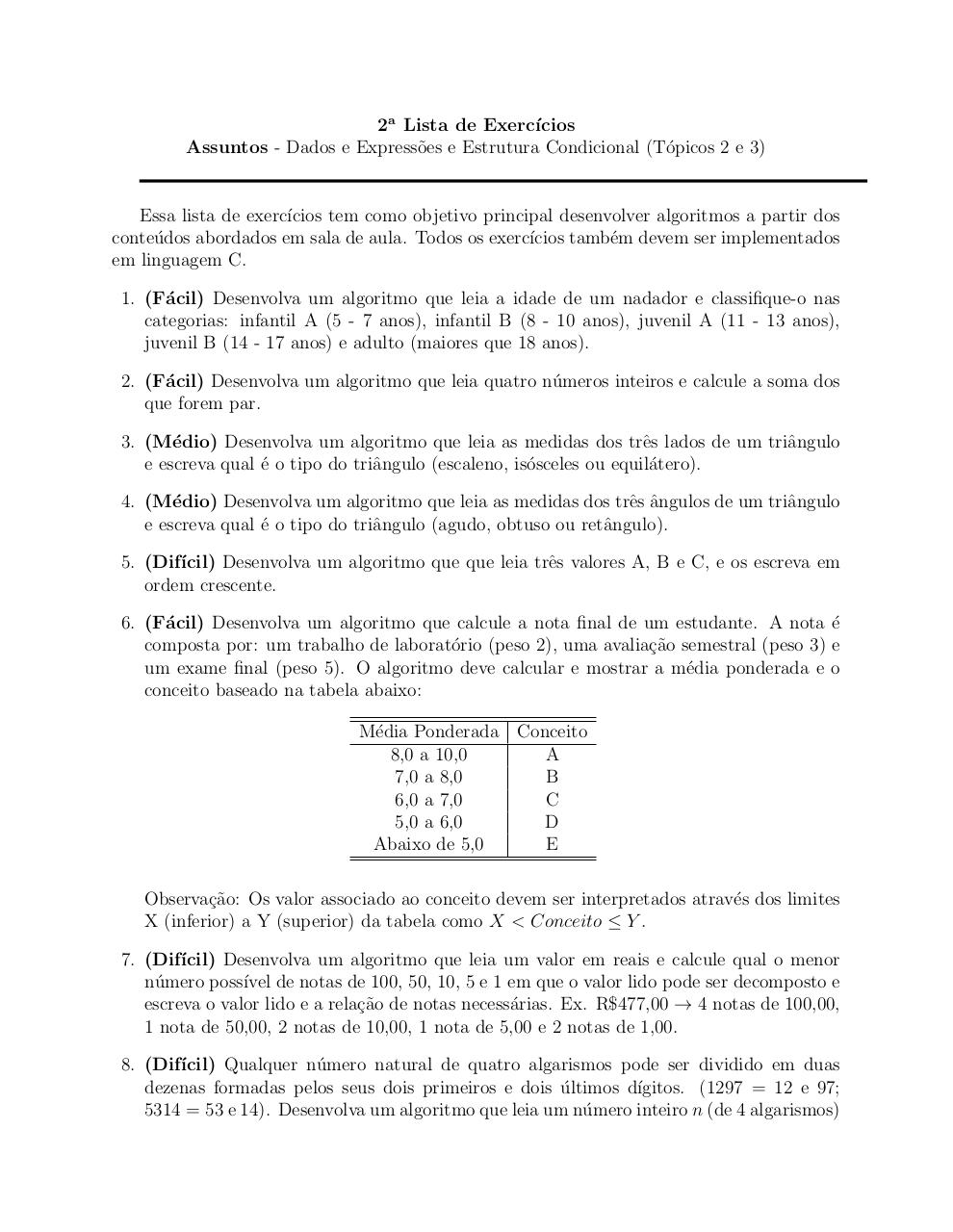 Document preview Lista 2.pdf - page 1/3