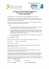 witness statement