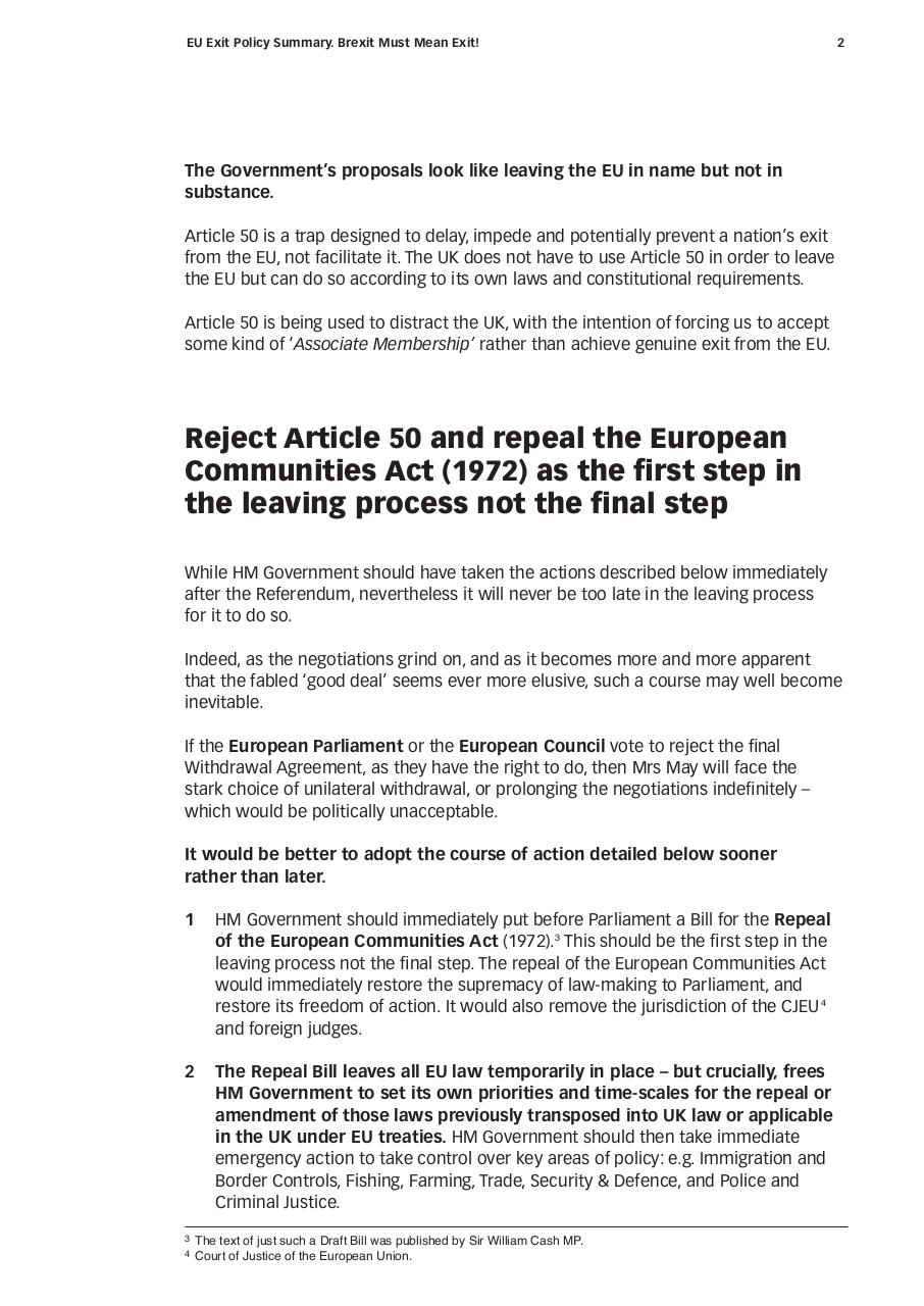 Document preview Brexit Must Mean Exit. 04.05.17.pdf - page 2/4