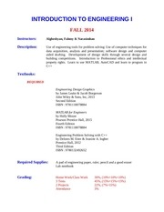 fall 2014 courseinformation